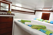 Roomy cabins with comfortable beds