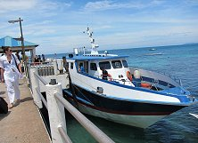 Ferry roaring to make its way to Tioman