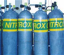 Nitrox tanks are marked conspicuously so as not to be mistaken for regular air tanks