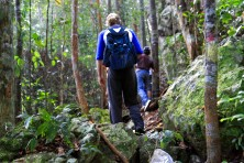 Trekking up the steep mysterious slopes of Gunung Kajang