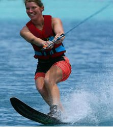 Happiness is waterskiing in Tioman