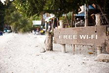 Some Tioman resorts offer free Wi-Fi areas